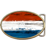 Netherlands Grunge Flag Belt Buckle. Code A0031